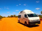 Photo of Travelwheels Campervan Hire vehicle on a road